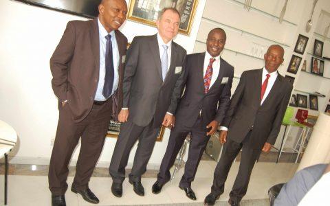 Prof Adebiyi Daramola; VC FUTA, Amb. Valerii Aleksandruk; Ukranian Ambassador to Nigeria, Prof Steve Azaiki; Iscest Chairman and Prof. Humphrey Ogoni VC Niger Delta University.