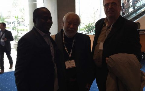 Prof. Victor Kobayashi (president CIES 2016), Prof Steve Azaiki and Prof David Turner at Vancouver for CIES conference